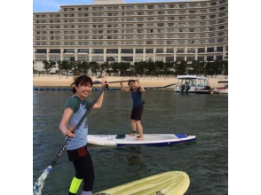 [Okinawa Yomitan] happily progress in the small group of people! Group SUP Experience]
