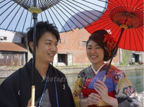【北海道・着物レンタル】レトロな着物で小樽美人に変身!たっぷり1日コースの画像