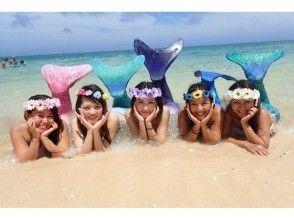 [沖繩恩納]從2歲OK的參與!它會成真夢想可以變成一條美人魚!國外流行的美人魚游泳圖像