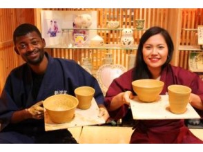 [Tokyo/ Omotesando] Experience the traditional Japanese crafts wearing electric rokuro experience course-working clothes! Foreign tourists welcome! Immediately from the station