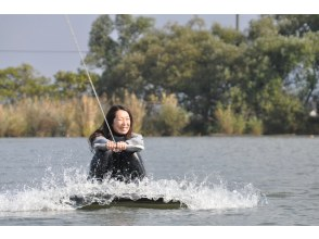[Shiga ·Biwa lake· Wakeboarding For experienced users! Free touring course (15 minutes x 2 sets)