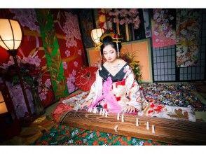 【奈良・花魁体験】髷を使った本格古典風花魁「飛鳥プラン」オリジナル写真台紙付き!の画像