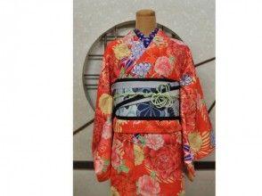 【京都・嵐山】着物レンタルフルセットコーディネートの画像