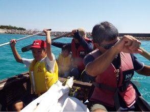 【スポーツ文化ツーリズムアワード2016選出】沖縄海人スピリッツ!いとまん帆掛サバニ乗船体験の画像