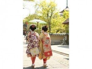 【京都・舞妓体験】舞妓さん体験 散策プラン(雨天の場合は店内のみのプランに変更可)の画像