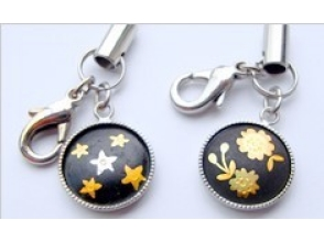 【Kyoto · Arashiyama】 Experience the method of historic Kyoto inlaid (Elegant). Picture of making a cell phone strap or pendant