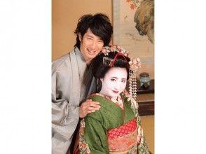 【京都・舞妓体験+男性着物】カップルプランの画像