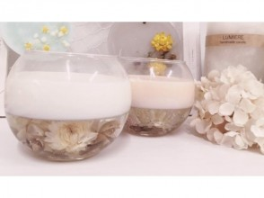 [Osaka · Umeda] A cool expression and cute attraction. Picture of making Botanical glass candle