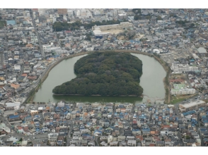 Trying to cruise the tombs of Osaka Sakai City in Osaka [Yao] helicopter! Image of (Sakai course)
