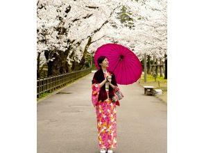 【石川・金沢】着物レンタル体験一番おすすめの心プラン(ヘアセット付)の画像