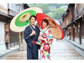 "[Ishikawa/ Kanazawa] ""Kimono Rental couple plan"" with professional photographer location shooting data is delivered on DVD"