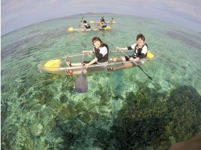 [冲绳/备濑] 用透明皮划艇开始划船♪推荐给家庭的透明皮划艇体验! !!