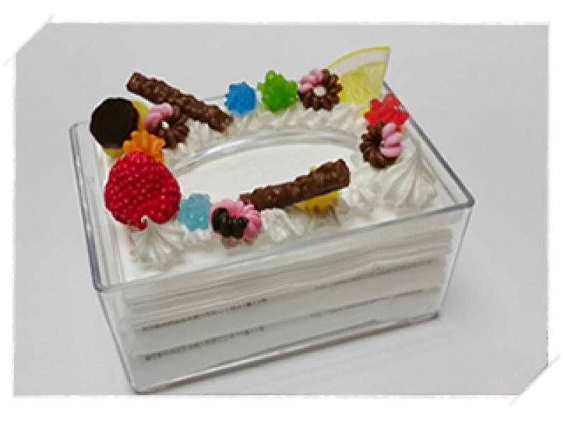 【岐阜・白鳥】おいしそうな食品サンプルを作ってみよう!「ティッシュケース デコレーション」食品サンプルの工房も見学OK!の紹介画像