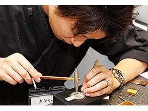 【Kyoto · Arashiyama】 Experience the method of historic Kyoto inlaid (Elegant). Image of area to make mobile strap and pendant
