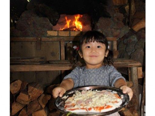【静岡・伊豆】薪割り&丸太切りもできる!手作りの石窯でピザ焼き体験