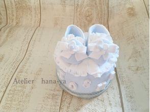 【東京・富士見台】赤ちゃんのお祝いに!ソフトクレイのベビーシューズケーキ作り体験の画像