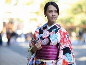 [Tokyo/ Harajuku] Take a walk in Harajuku with a nice kimono! Kimono Basic Plan (30 seconds from Harajuku Station)