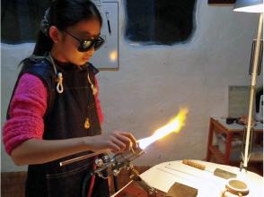 【千葉・鴨川】ガラス工芸・ミニ体験(20分コース)酸素バーナーワークにチャレンジ!の画像