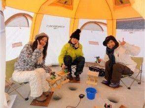 【北海道・南富良野】☆オススメ☆ 氷上ワカサギ釣り 半日ツアー 送迎付きプラン♪の画像