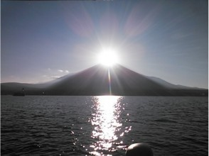 [Yamanashi Yamanakako] only this time of year! ~ Let's watch the diamond Fuji from the ship!