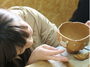 [Hiroshima Akiota] Ota River upstream, loose ceramic art experience in nature. [Blobbing cup or mug making]