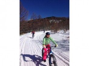 手ぶらでファットバイク雪遊びの画像
