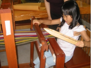 [Kagoshima prefecture Kagoshima] can be for beginners! Image of the hand-woven experience of a simple weaving machine