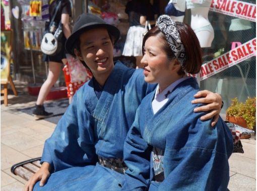 [Tokyo/ Harajuku] Why do not you date Harajuku with rare denim kimono? Couple plan (30 seconds from Harajuku station)の紹介画像