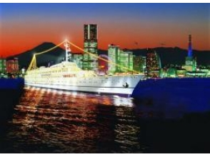 【Yokohama Minato-ku Bridge / Boarding】 【luxury cruise ship Royal wing / dinner cruise [9297]