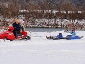 【岩手・花巻】冬だけしかできない雪上カヌーとソリで遊ぼう!雪の河原あそびプラン♪の画像