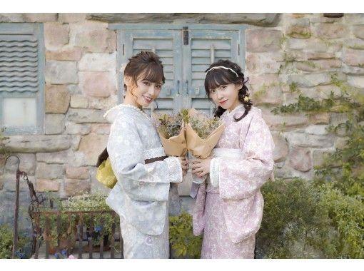 【神奈川・鎌倉】着物一式&ヘアセット付&着付け込プラン!雨の日は雨傘無料レンタル中♪