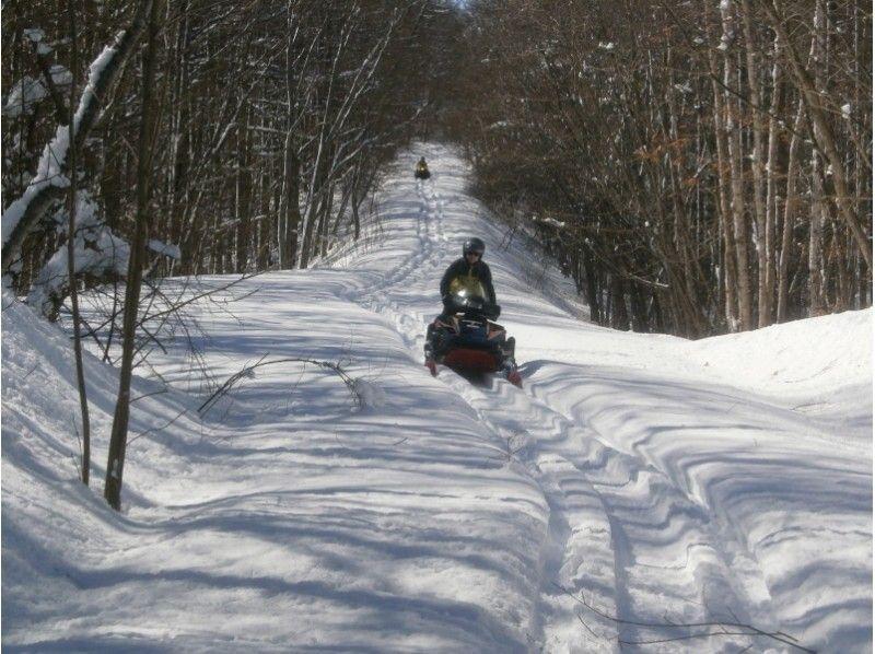 [Hokkaido Tokachi] run through the forest! Snowmobile touring ♪ Introduction image