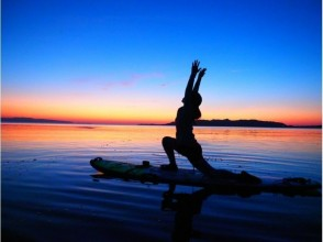【Okinawa · Ishigakijima】 SUP Yoga experience while watching sunset and stars! Image of fitness in nature