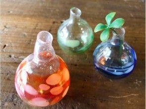 【京都・ガラス細工】京町家でつくるミニサイズの一輪挿しの画像