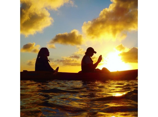 [Regional common coupons available / New corona measures] On the day reservations are OK! [Okinawa / Kadena] I feel like chasing the sunset over the horizon. Sunset Kayak tour!の紹介画像