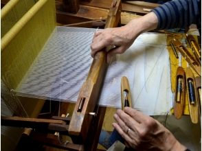 [Kyoto City] Weaving (hand-woven) 1 day Experience! [Image of traditional craft Nishijin nail scratch stitch]