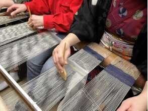 [Kyoto City] Coaster making with weaving (hand-woven)! 【Nishijin nail scratch stitch loin】 image