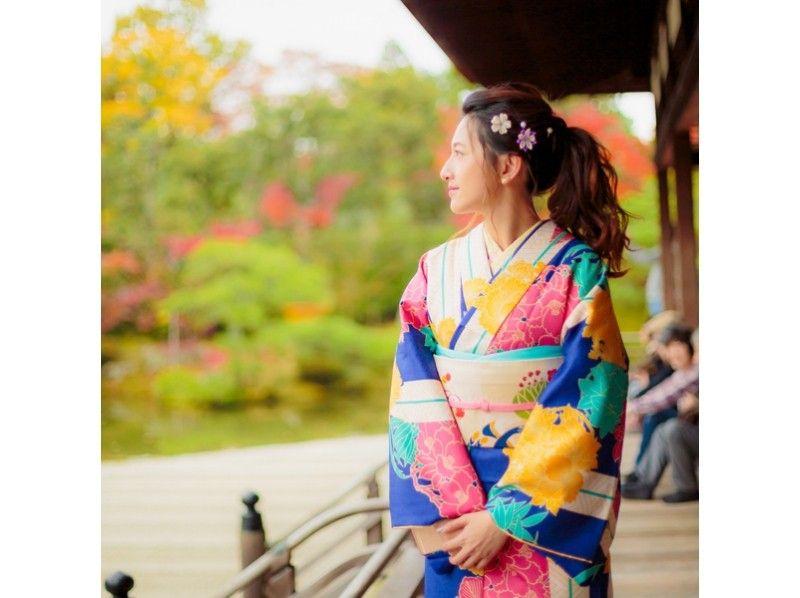 【京都・五条】着物で京都一日散策(ヘアセットなし)【女性におすすめ】【男性1名様のご利用もOK!】の紹介画像