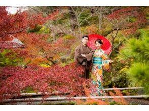 【京都・五条】着物で京都一日散策 男女カップル着物レンタル(女性ヘアセットなし)