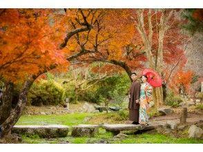 【京都・五条】着物で京都一日散策 男女カップル着物レンタル(女性ヘアセット込)