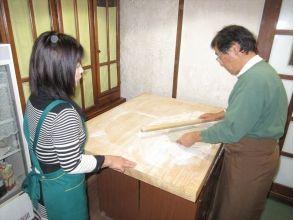 【長野・北志賀高原】信州旬なきのこの天ぷら付き!そば打ち体験の画像