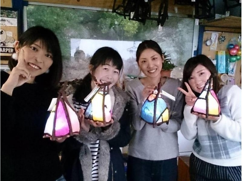 [Wakayama/ Shirahama] Healing degree MAX! Let's make a handmade lamp shade (Washi Akari) There are various sizes!