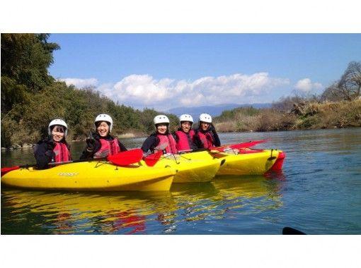 【春休み・卒業旅行 特典】リバーカヤック体験、卒業記念・富士山に向かって・ウエットスーツ  無料