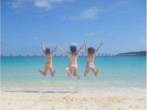 【沖縄・宮古島】前浜ビーチでマリン4種+100%遭遇率の海亀とシュノーケル+ランチ!団体割有!の画像