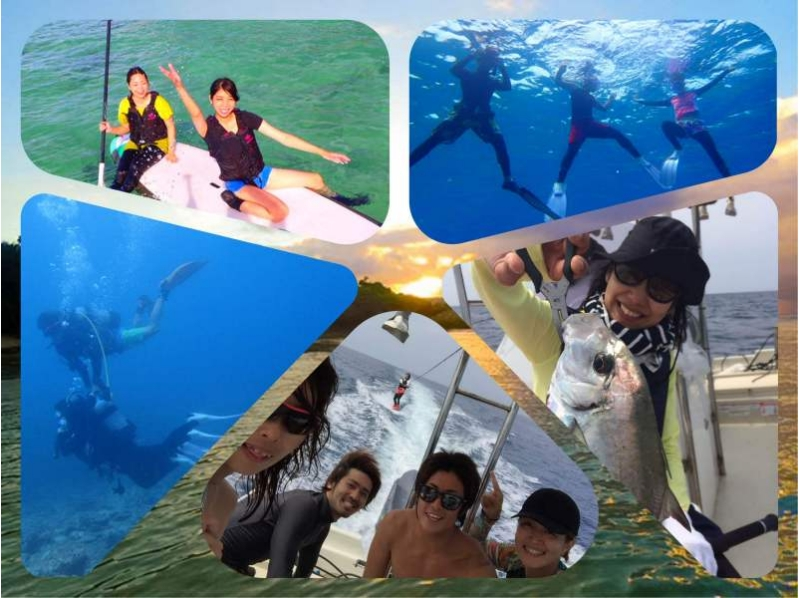【Okinawa · Ginowan】 Introduction picture of the course (diving, SUP, snorkel, fishing ...) as much as you want