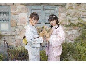 【京都・祇園】着物一式&ヘアセット付&着付け込プラン!雨の日は雨傘無料レンタル中♪