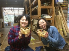 【大分・宇佐】旅の記念やお土産に!山里でのんびり、竹かご製作体験(約1時間)