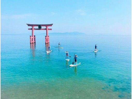 【琵琶湖・SUP体験】琵琶湖・湖西SUP・白髭神社参拝プラン(たっぷり2時間)