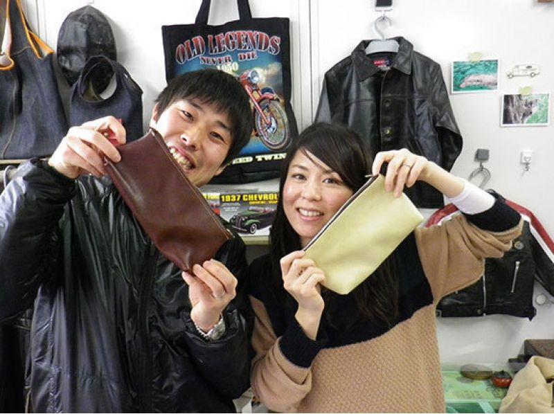 """[兵庫姬路]讓我們做原創皮革製品! """"真正的皮革工藝體驗""""推薦用於旅行的回憶和禮物!の紹介画像"""