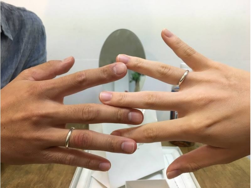 【Tokyo・Hibarigaoka】 Let's make them together! Only one silver pair ring in the world (couples and friends)の紹介画像